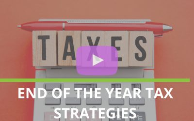 Tax Strategies for the end of the year